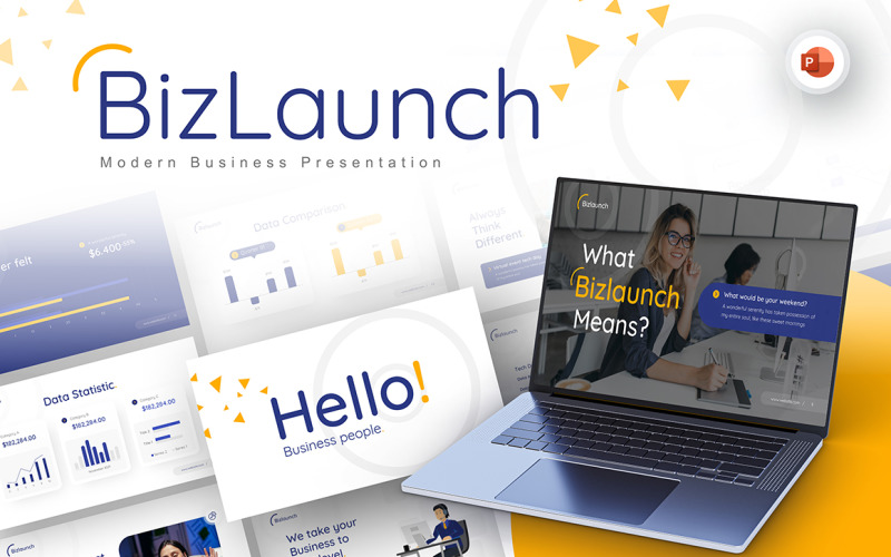 Modèle PowerPoint de entreprise moderne BizLaunch