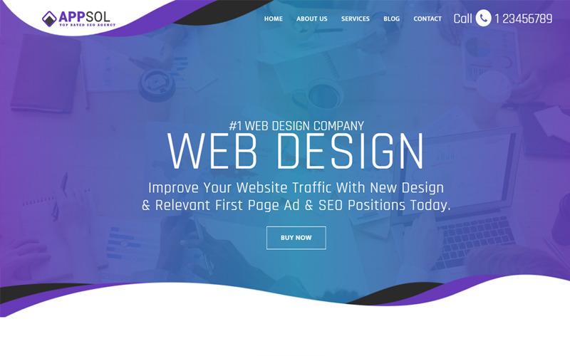 AppSol - шаблон веб-сайта студии веб-дизайна