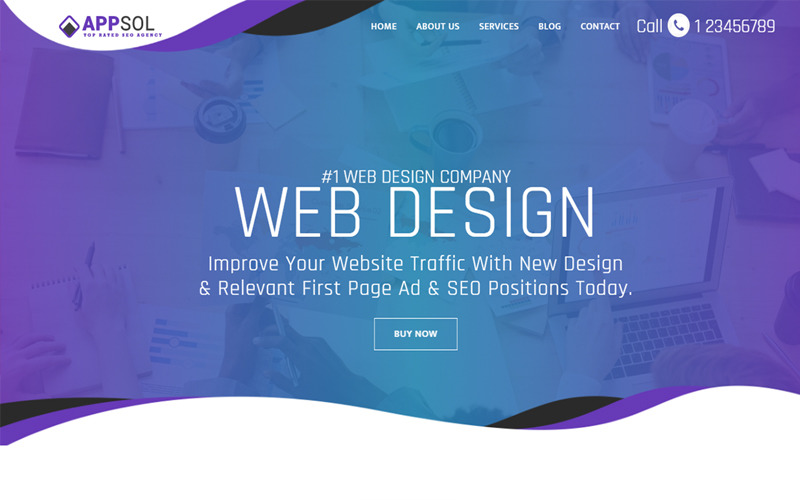 AppSol - Webdesign Studio Website-Vorlage