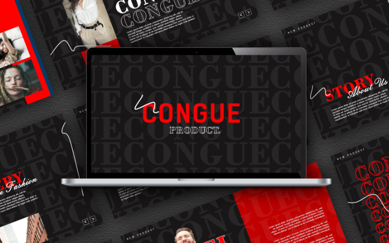 Congue Powerpoint模板