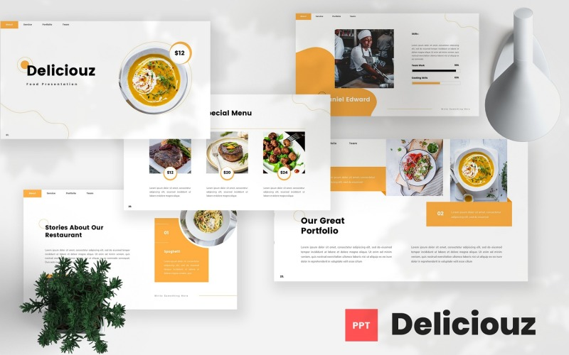 Deliciouz - Food PowerPoint Template