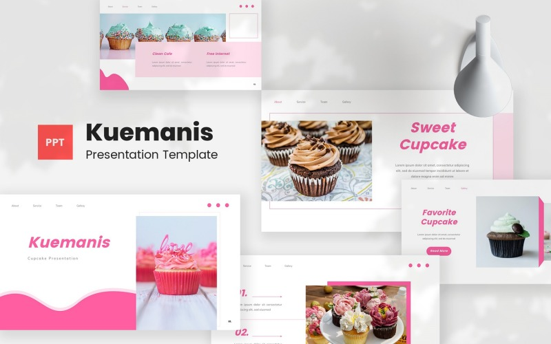 Kuemanis - Cupcake PowerPoint Template