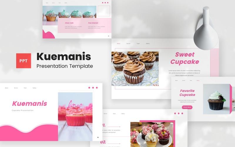 Kuemanis - 纸杯蛋糕 PowerPoint演示模板