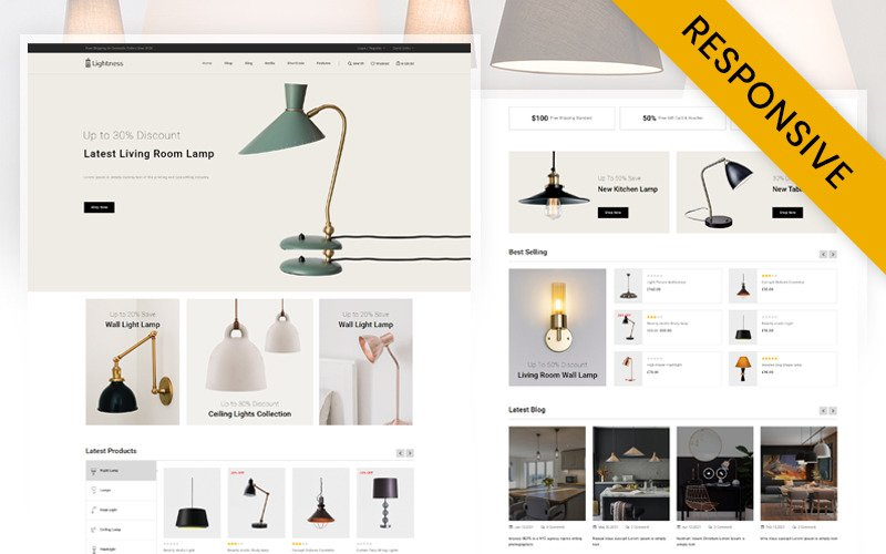 Легкость - тема WooCommerce для магазина Fancy Lights Store