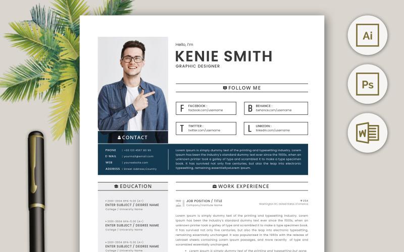 Professional Resume CV Template Design Vol 16