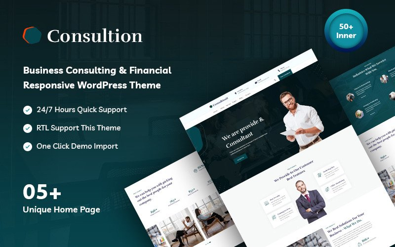 Сonsultionit - Responsive Consulting and Financial WordPress Theme