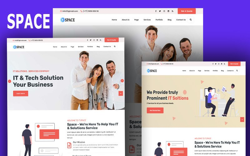 Space- Technology & IT Solutions Wordpress Theme