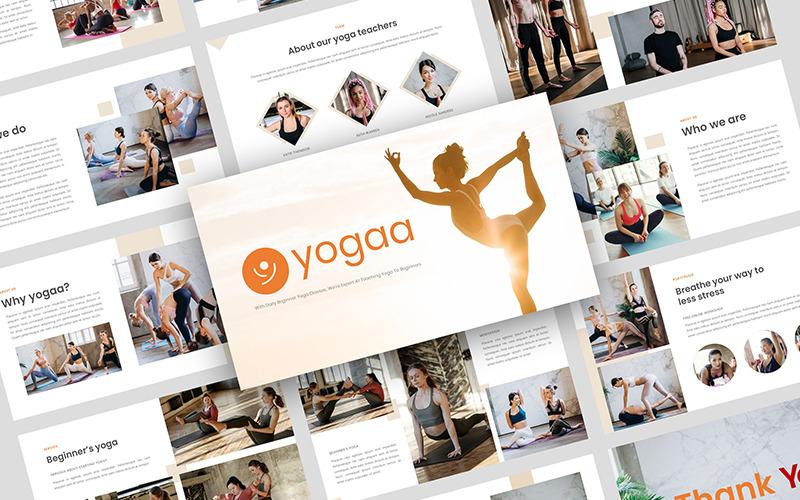 Yogaa - Modèle PowerPoint de présentation de yoga