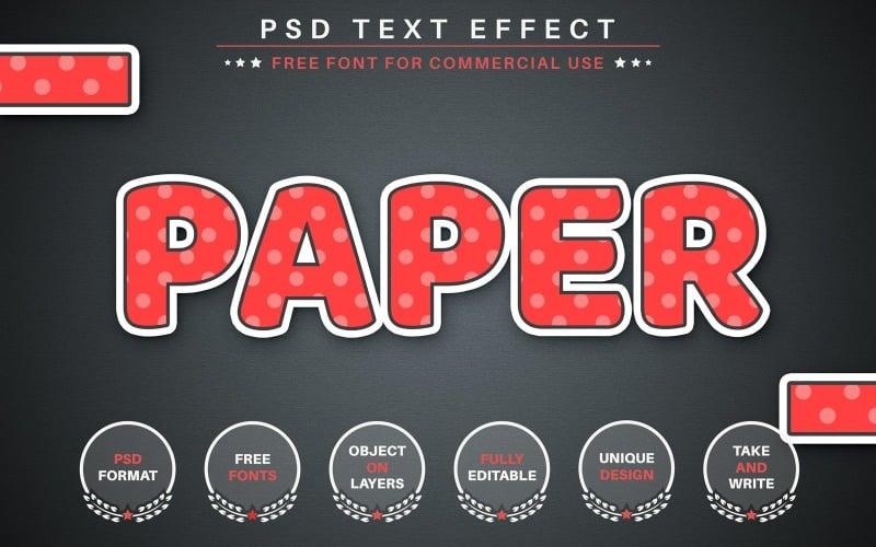 Paper Sticker - PSD Editable Text Effect, Gruphics Illustration