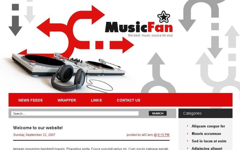 Music Portal WordPress Theme