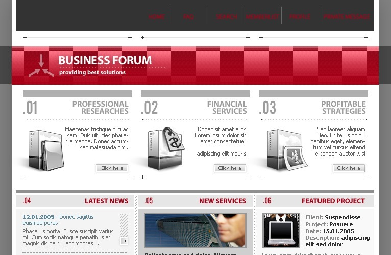 Business & Services PhpBB Template