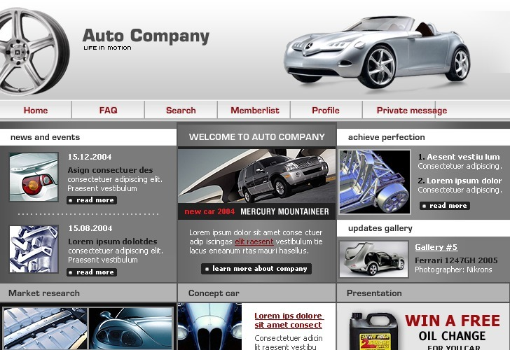 Car PhpBB Template