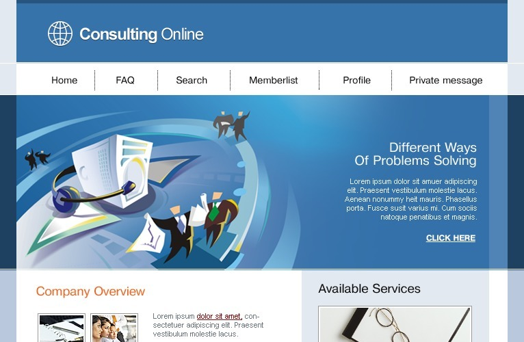 Consulting PhpBB Template