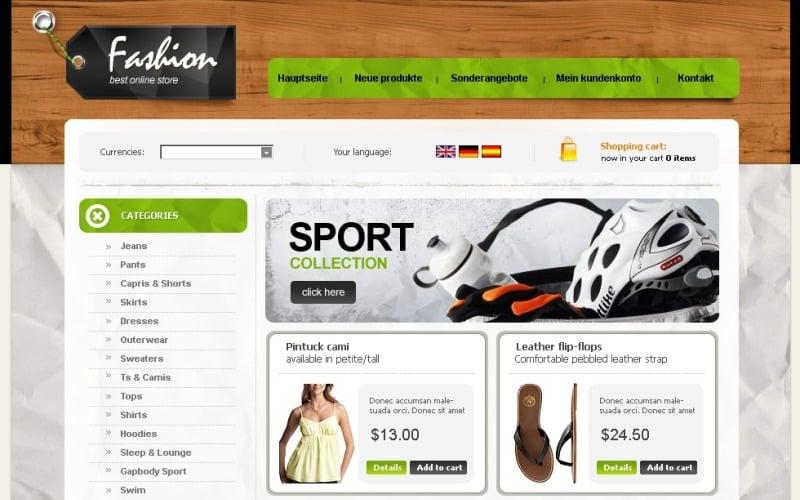 Fashion Store OsCommerce Template