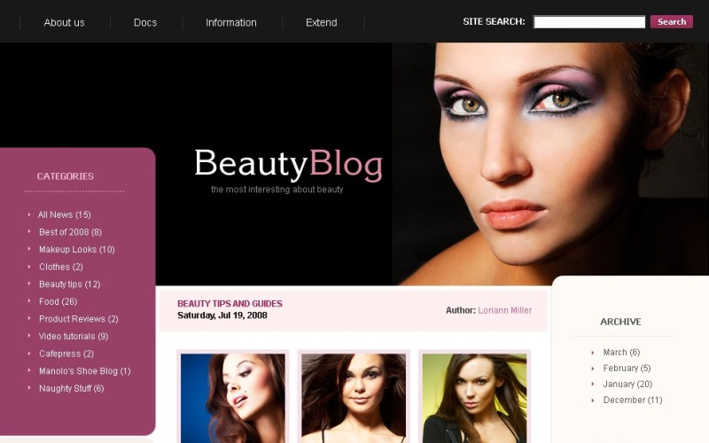 WordPress тема красоты