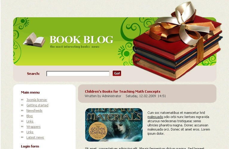 Books Joomla Template
