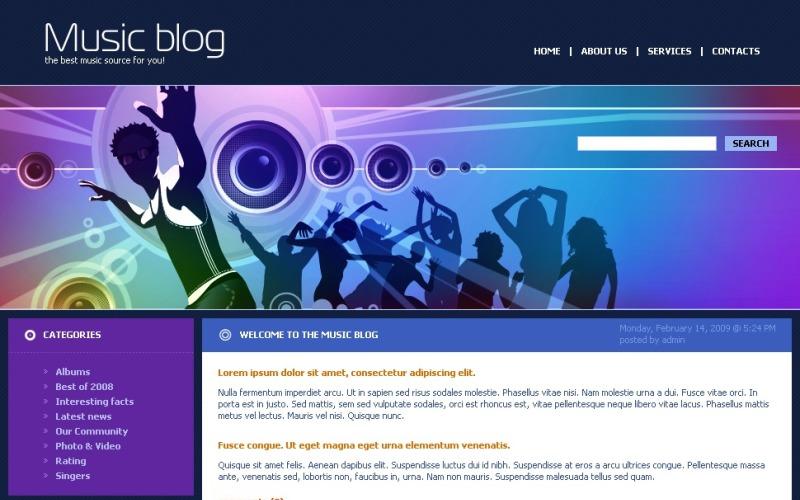 Music Blog WordPress Theme