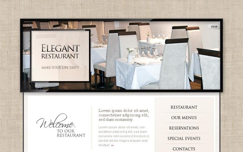 Šablona webových stránek kavárna a restaurace