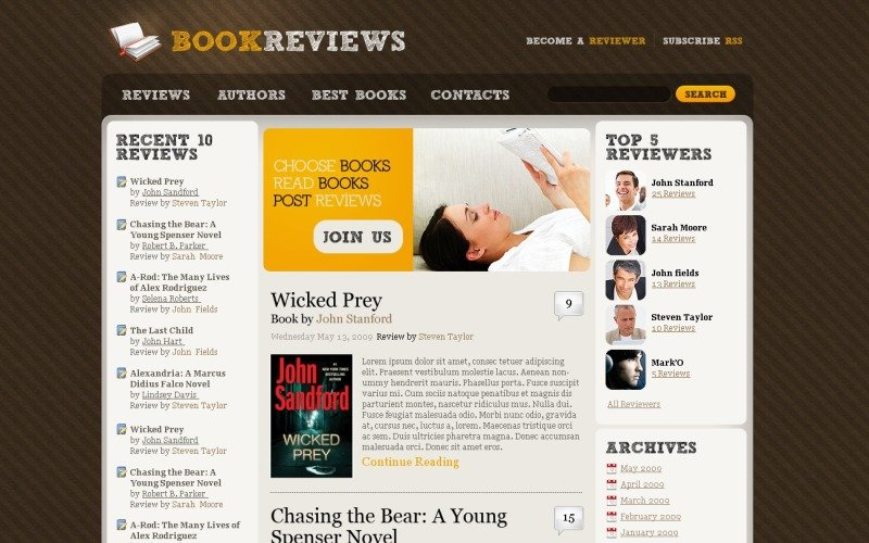 Book Reviews WordPress Theme