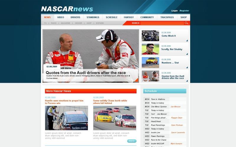 Car Racing Joomla Template