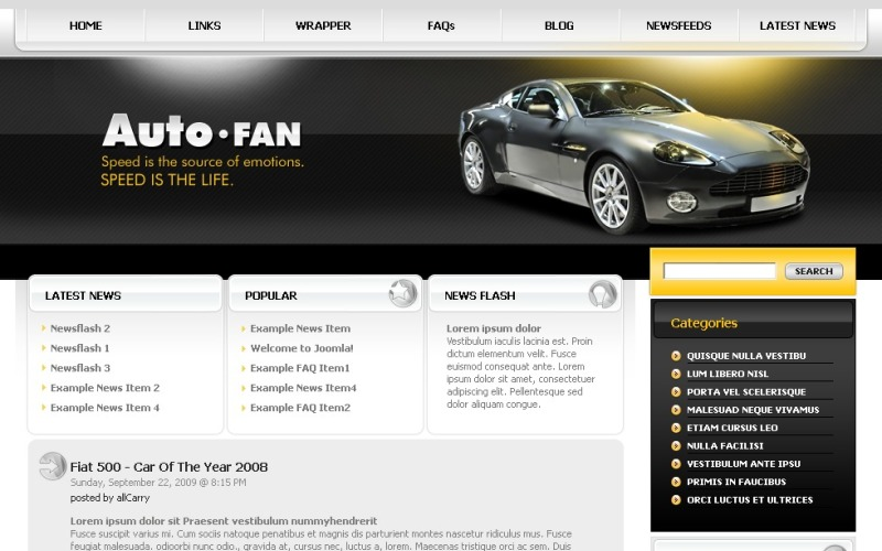 Car Club WordPress Theme