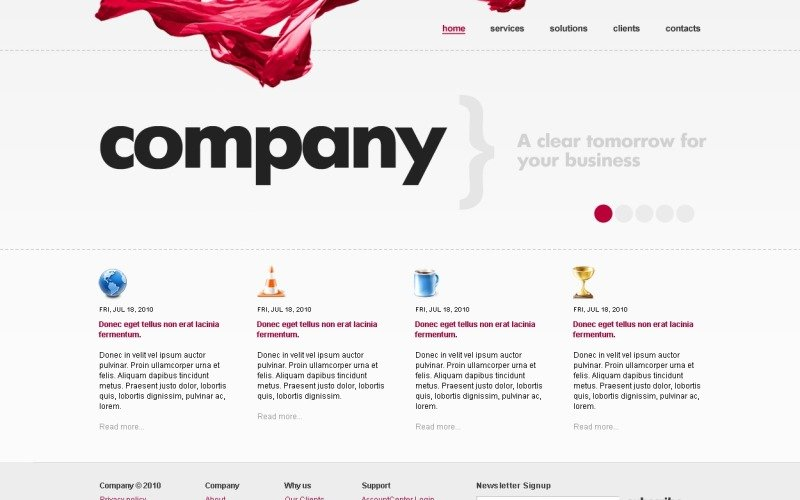 Business & Services Website Template