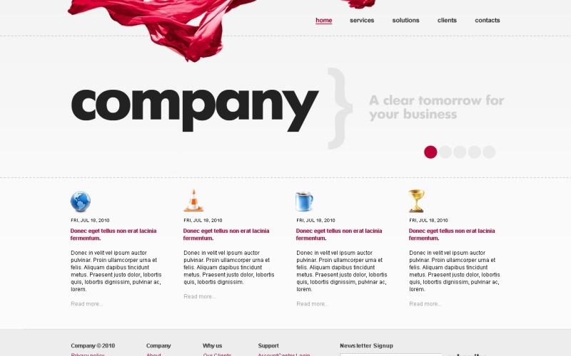 Modèle de site Web Business & Services