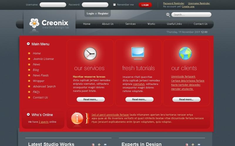 Tasarım Stüdyosu Web Sitesi Şablonu