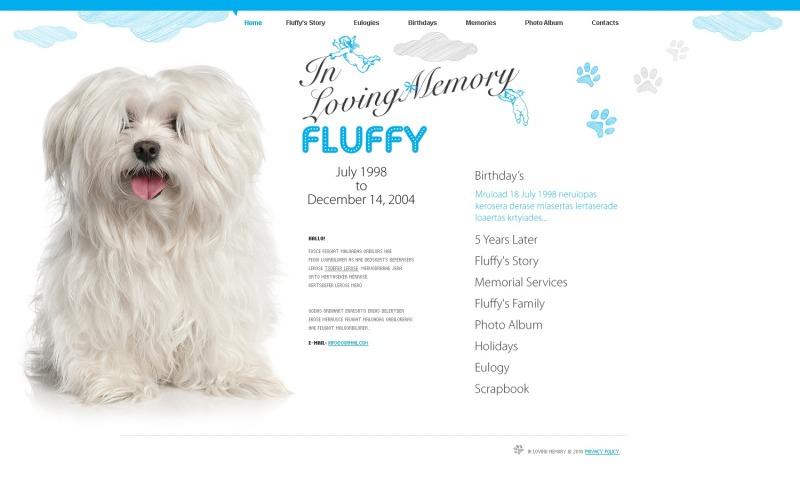 Modèle de site Web de chien