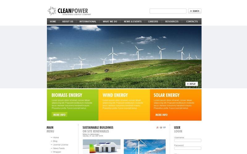 Wind Energy Joomla Template