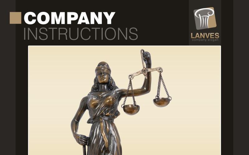 Avukat PowerPoint Şablonu