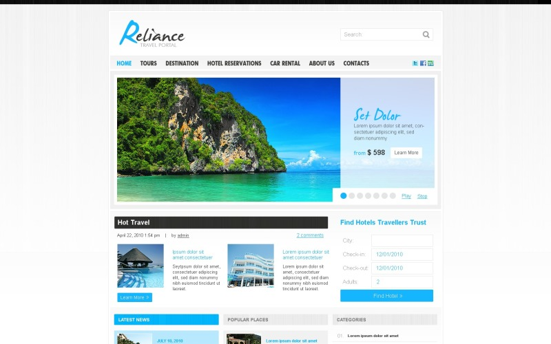 Thème WordPress du guide de voyage