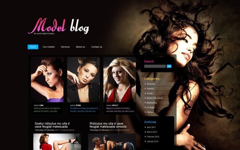 Model Portfolio WordPress Theme