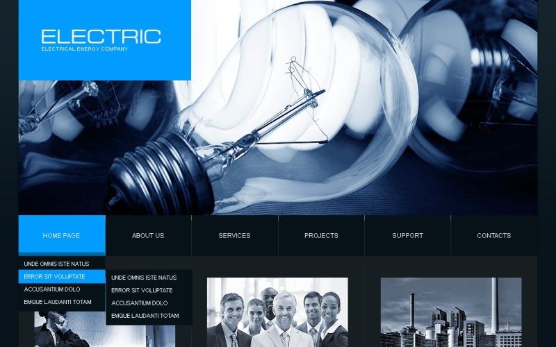 Lighting & Electricity Joomla Template