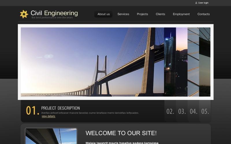 Civil Engineering Drupal Template