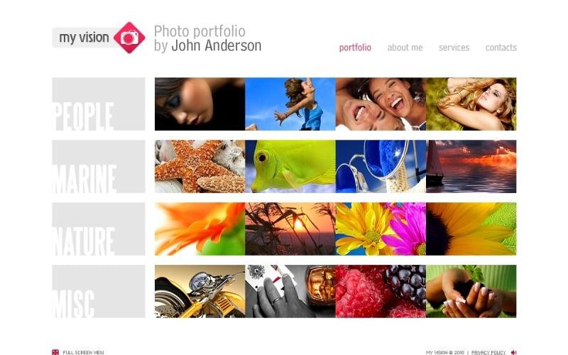 Photographer Portfolio Flash Template