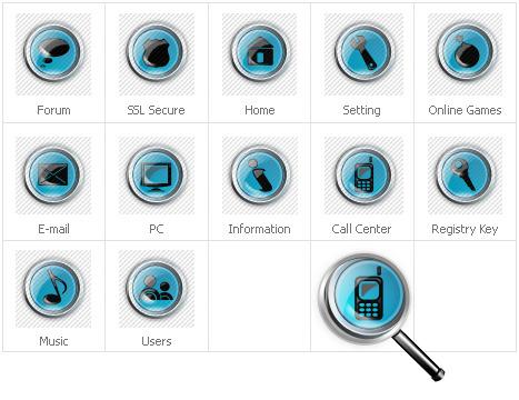 Neutrales Icon-Set