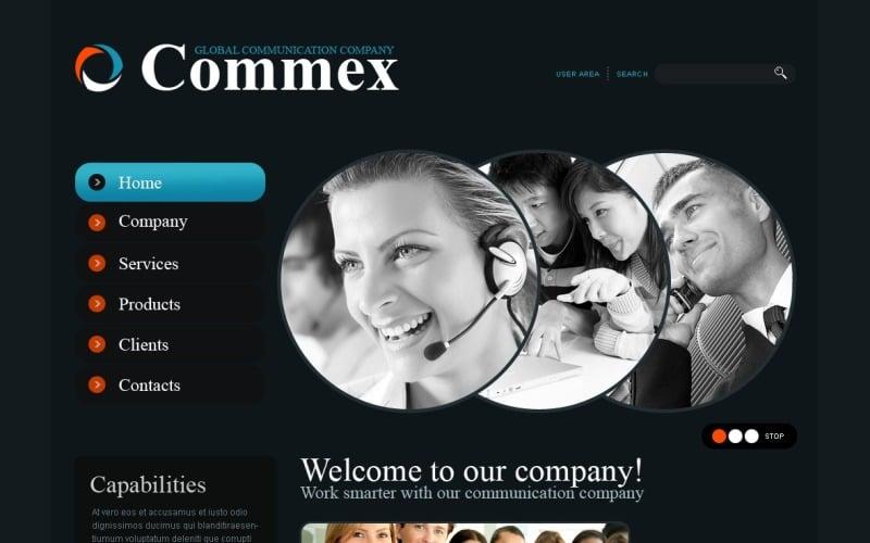 Communications Website Template