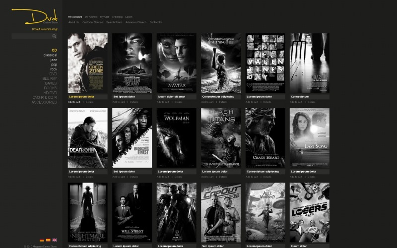 DVD Store Magento Theme