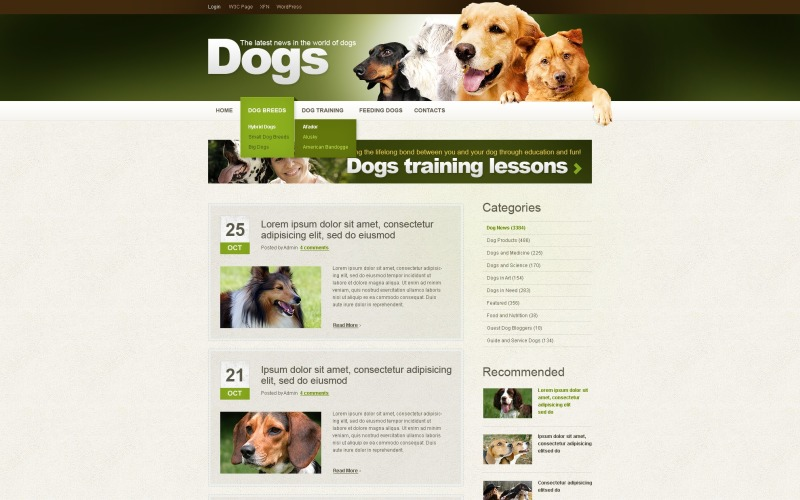 Dog WordPress Theme