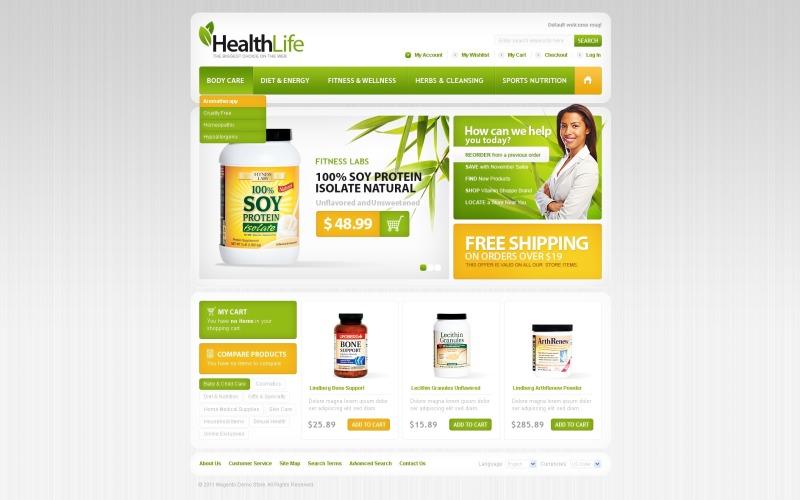 Magento téma Nutrition Store