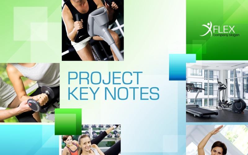 Fitness PowerPoint sablon