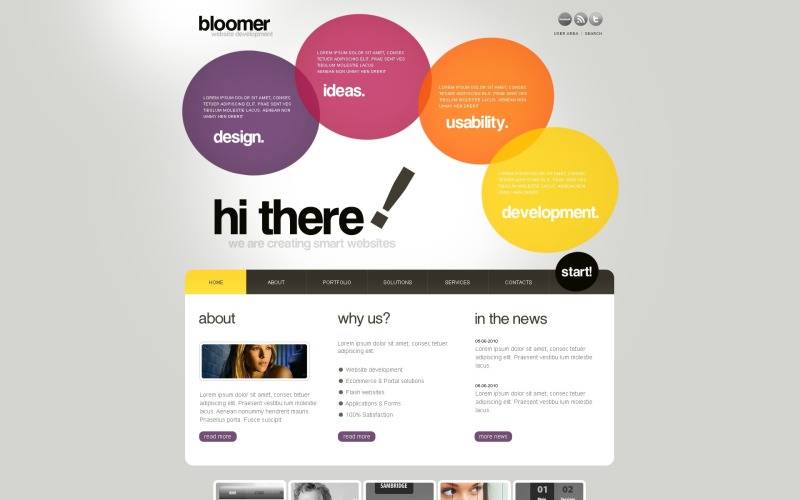 Thème WordPress de conception Web