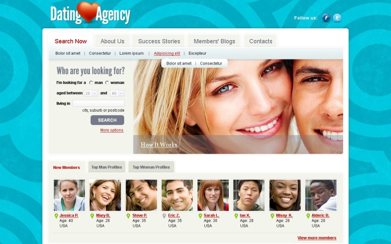 Dating Joomla Template