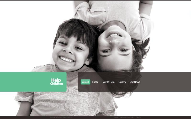 Child Charity WordPress Theme