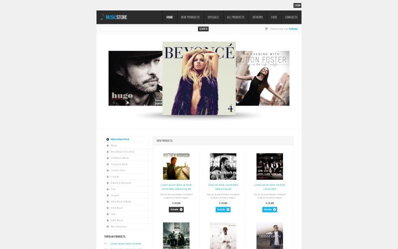 Müzik Mağazası ZenCart Şablonu