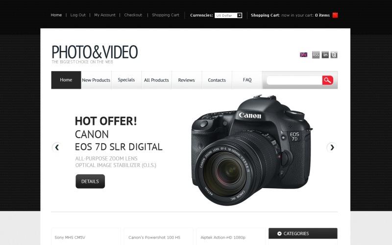 Video Store ZenCart Template