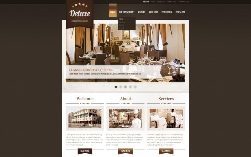 European Restaurant WordPress Theme