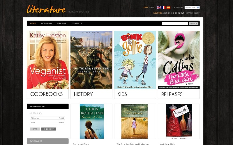 Books Online PrestaShop Theme