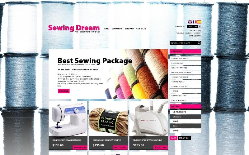 Tema de artigos de costura PrestaShop
